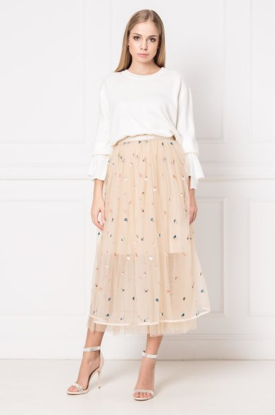 kremasta suknja