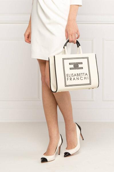 Torba na rame Elisabetta Franchi bijela